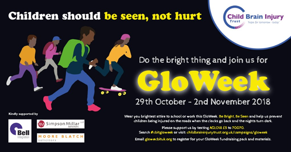 GloWeek promotional info for road safety