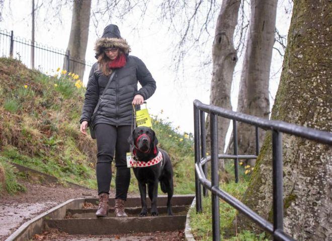 Sam with her dog Ziggy