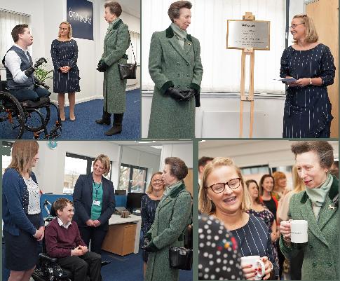 Princess Anne visits the OT Practice centre