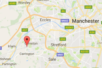 Map of Flixton, Manchester
