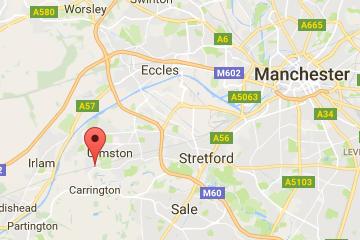 Map of Flixton, Manchester