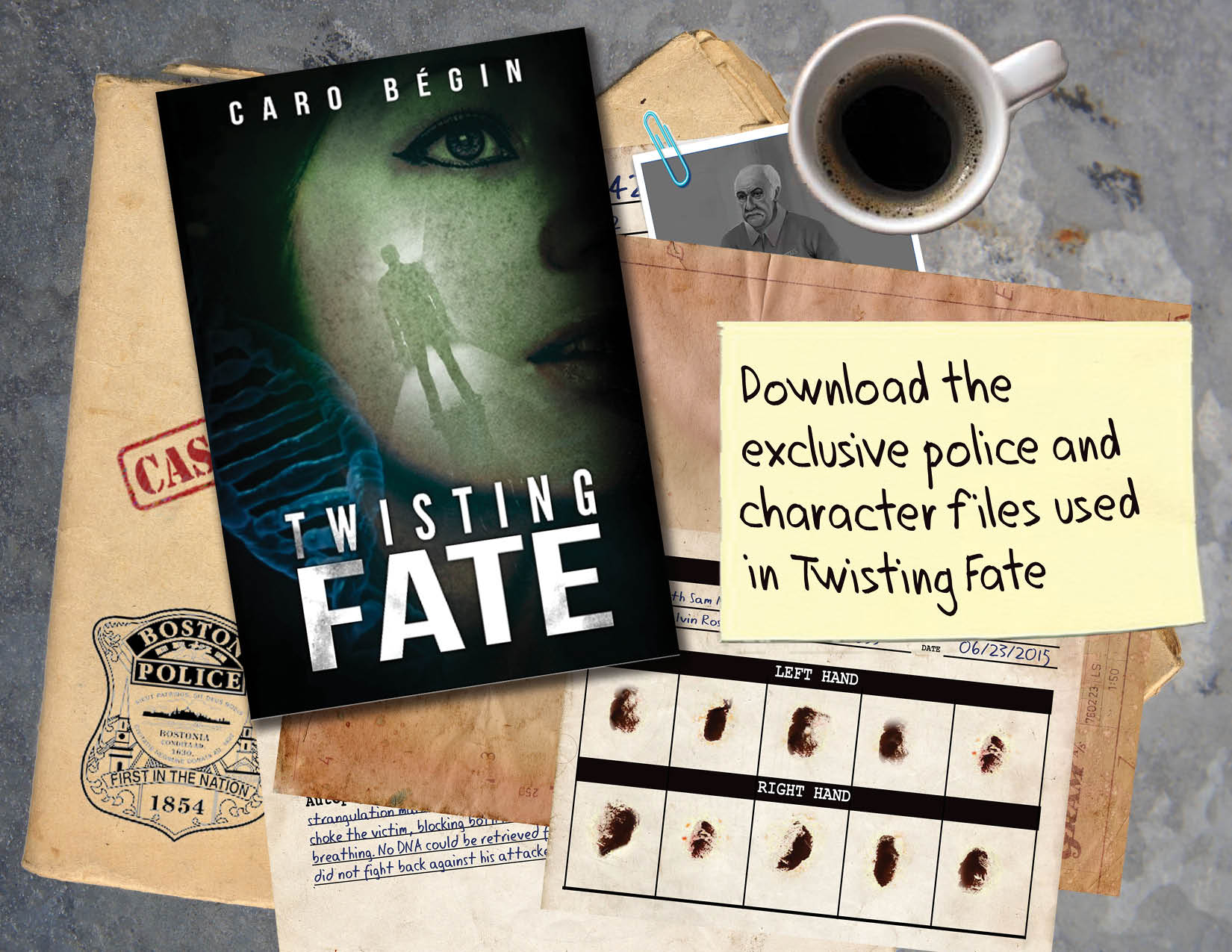 Sign up to download exclusive police and character files used in Twisting Fate