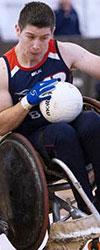 Nathan in his hew Bromakin racing wheelchair