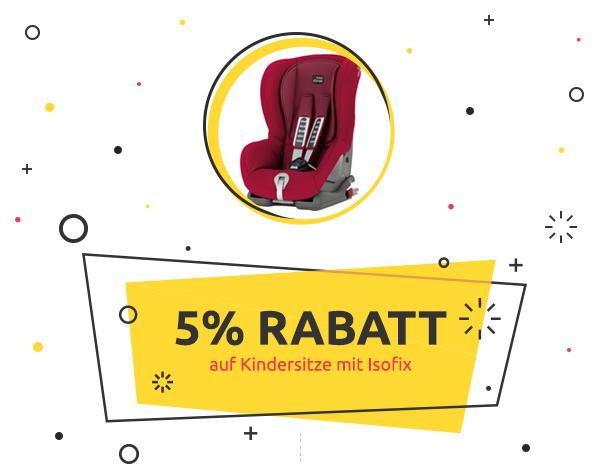 kidsroom.de Weekly Deal: 5% Rabatt auf Kindersitze mit Isofix