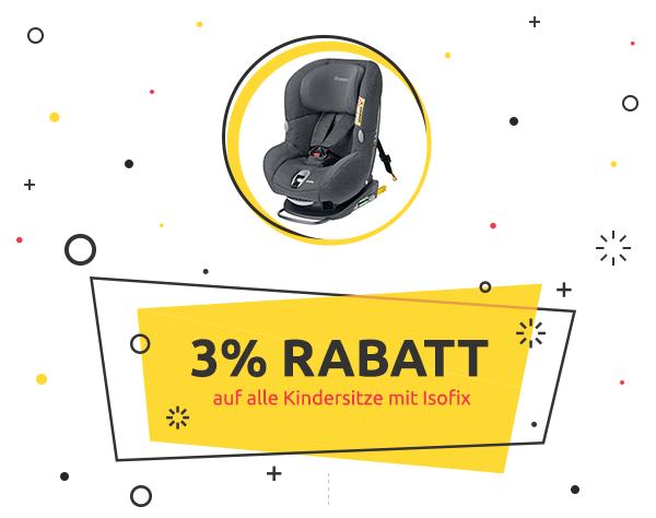 Weekly Deal: 3% Rabatt auf Kindersitze mit Isofix