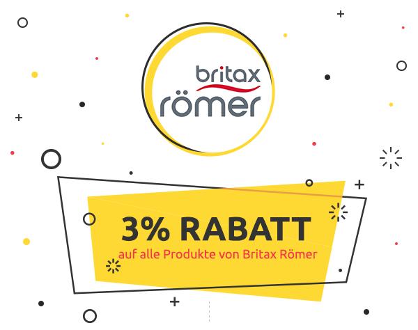 3% Rabatt auf alle Produkte von Britax Römer