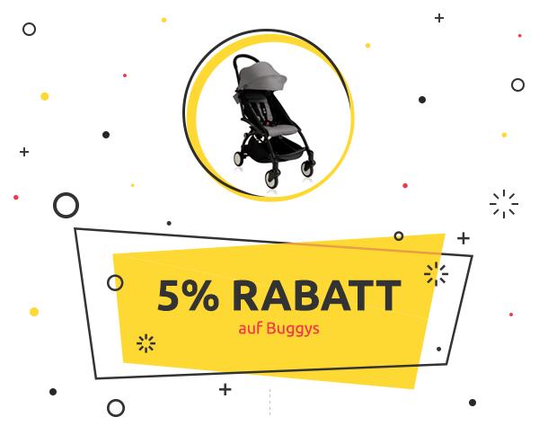 WeeklyDeal: 5% Rabatt auf Buggys