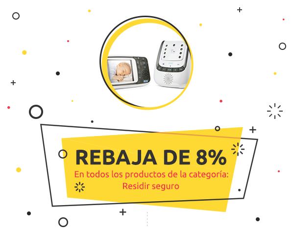 8% de descuento En todos los productos de la categoría Residir seguro