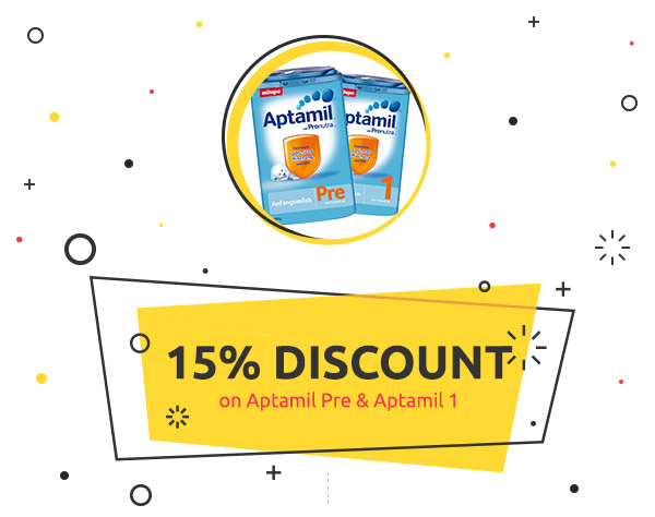 kids-room.com Weekly Deal: 15%  discount on Aptamil Pre & Aptamil 1