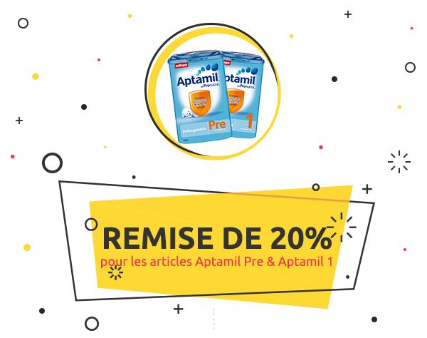 kidsroom.de WeeklyDeal: Remise de 20% pour les articles Aptamil Pre & Aptamil