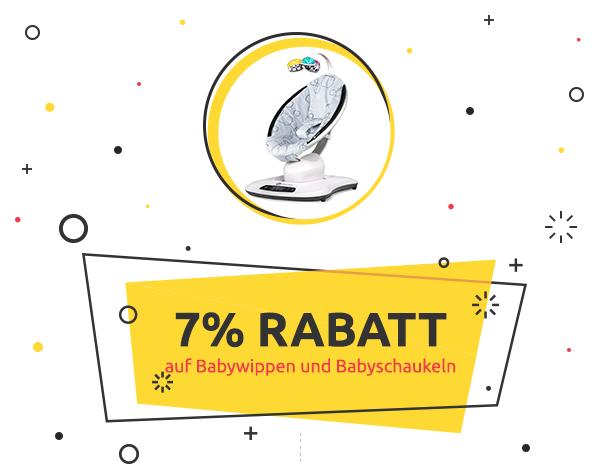 7% Rabatt auf Babywippen und Babyschaukeln
