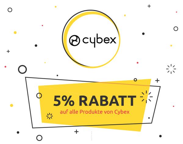 5% Rabatt auf alle Produkte von Cybex
