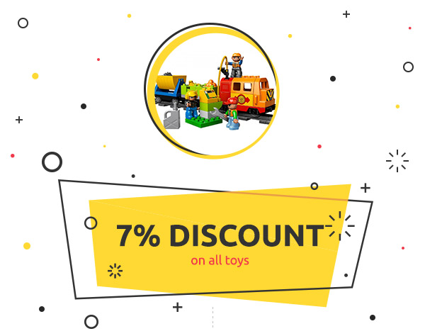 7% discount on all toys