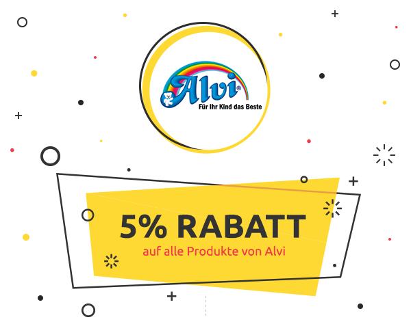 5% Rabatt auf alle Produkte von Alvi