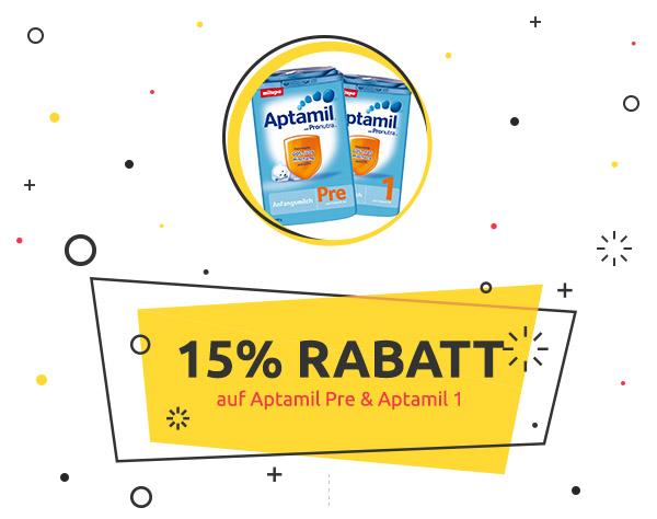 kidsroom.de Weekly Deal: 15% Rabatt auf Aptamil Pre & Aptamil 1