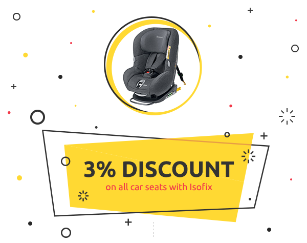 3% Off all car seats with Isofix