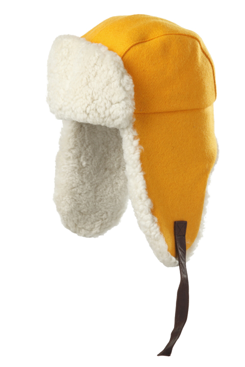Shearling aviator color block