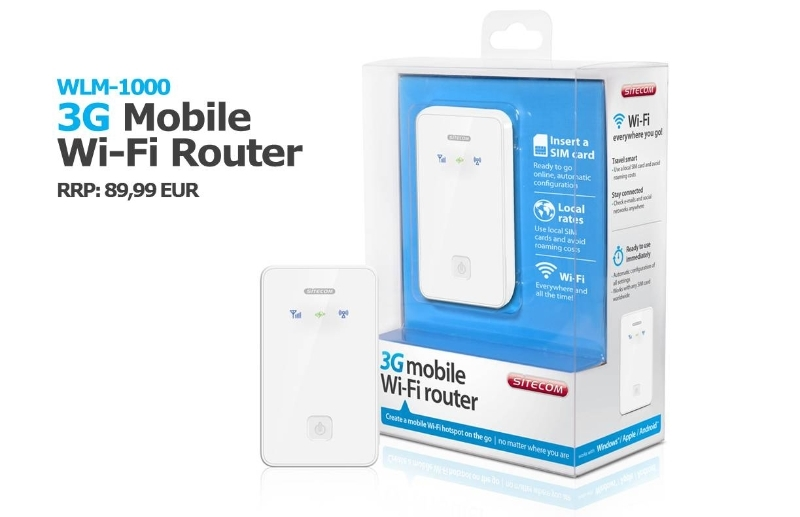 WLM-1000 3G Mobile Wi-Fi Router