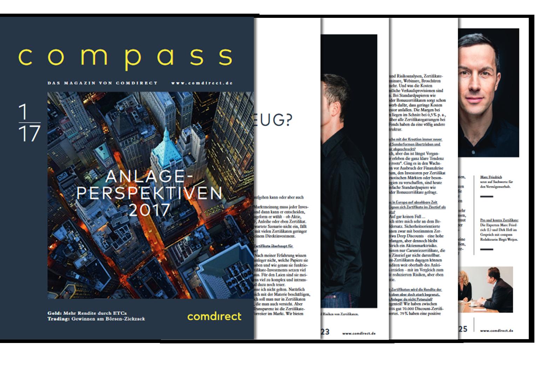 """Comdirect Kundenmagazin """"Compass"""" mit Marc Friedrich"""