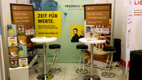 Messestand Friedrich & Weik Wertefonds - Börsentag München
