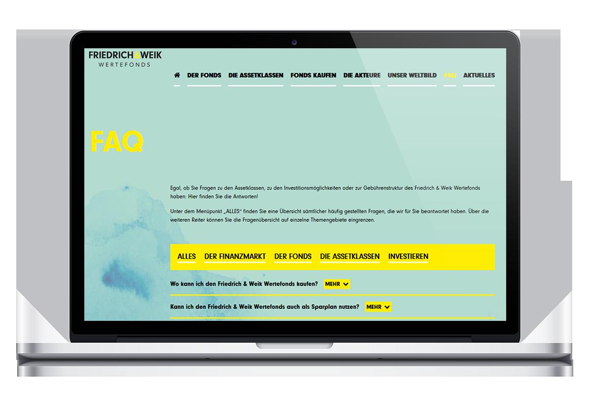 Das FAQ zum Friedrich & Weik Wertefonds