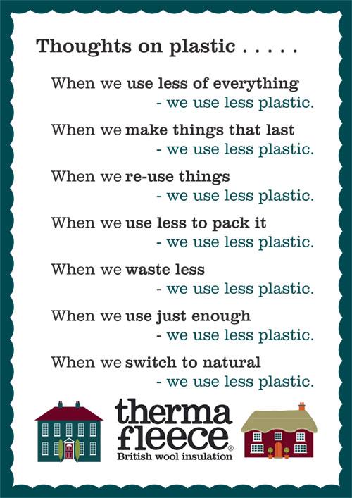 Thermafleece thoughts on plastic