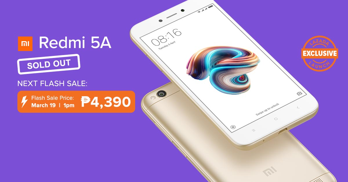 Lazada's Redmi 5A Flash Sale