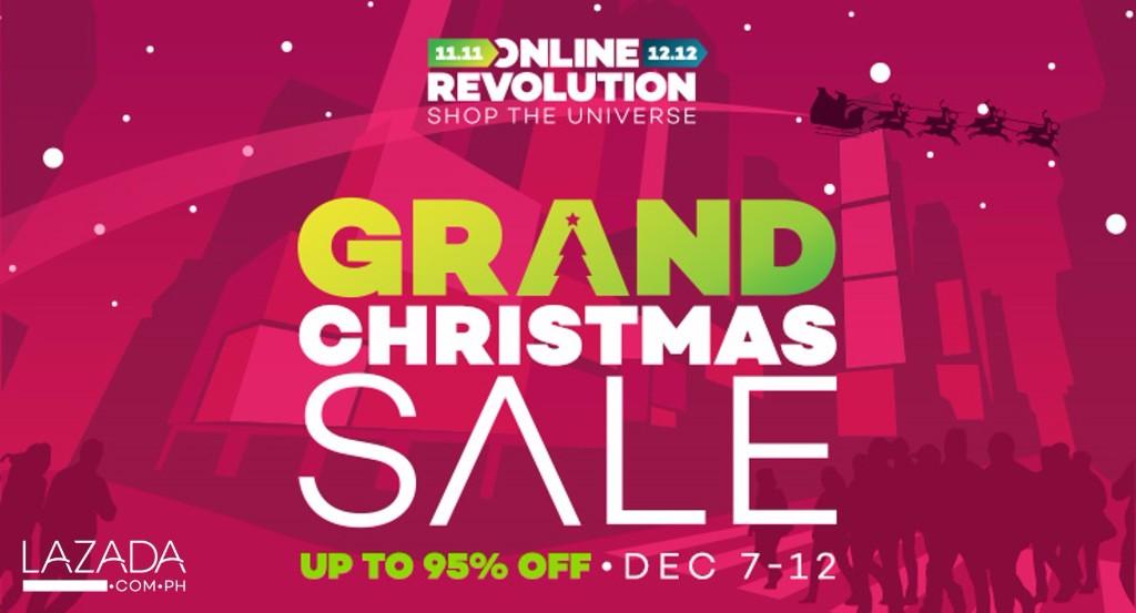Lazada Philippines Online Revolution Grand Christmas Sale