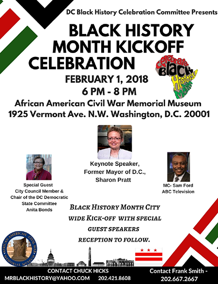 Black History Month Kickoff Celebration February 1, 2018