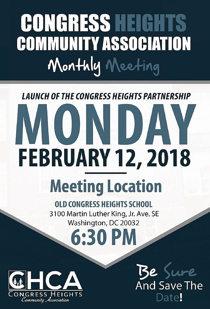 Congress Heights Community Association February 12, 2018 Meeting
