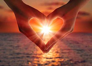 heart, hands, sun