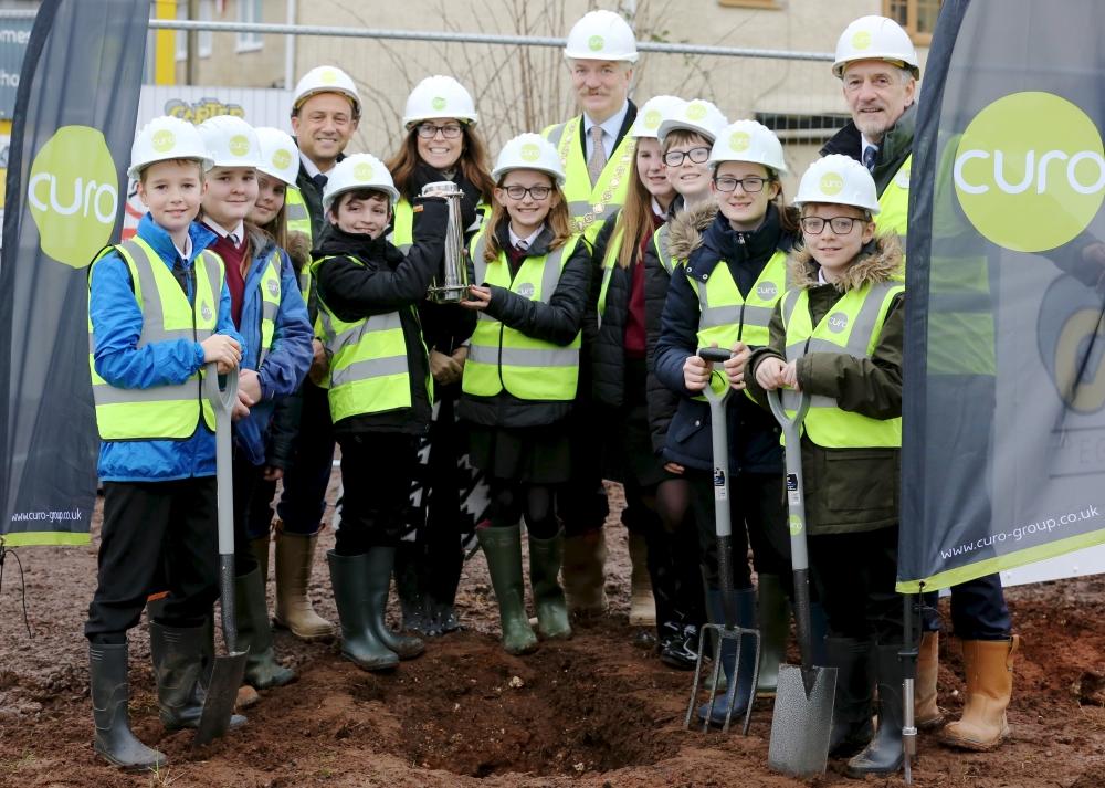 Time capsule buried at Midsomer Norton Curo development
