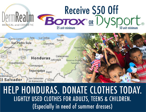 Dermatology Realm is collecting lightly used summer clothes for adults, teens, and children in the communities surrounding Trujillo, Honduras. All sizes are welcome and needed. We especially ask for summer dresses. They are in a very warm climate, so clear out your summer closets!  Many of these villages do not have electricity. Our mission team will build a concrete brick house with a tin roof to replace a mud and stick walled hut that has a palm tree branched roof. Your help in providing clothing and shoes to these families and their neighbors is very much needed and appreciated.