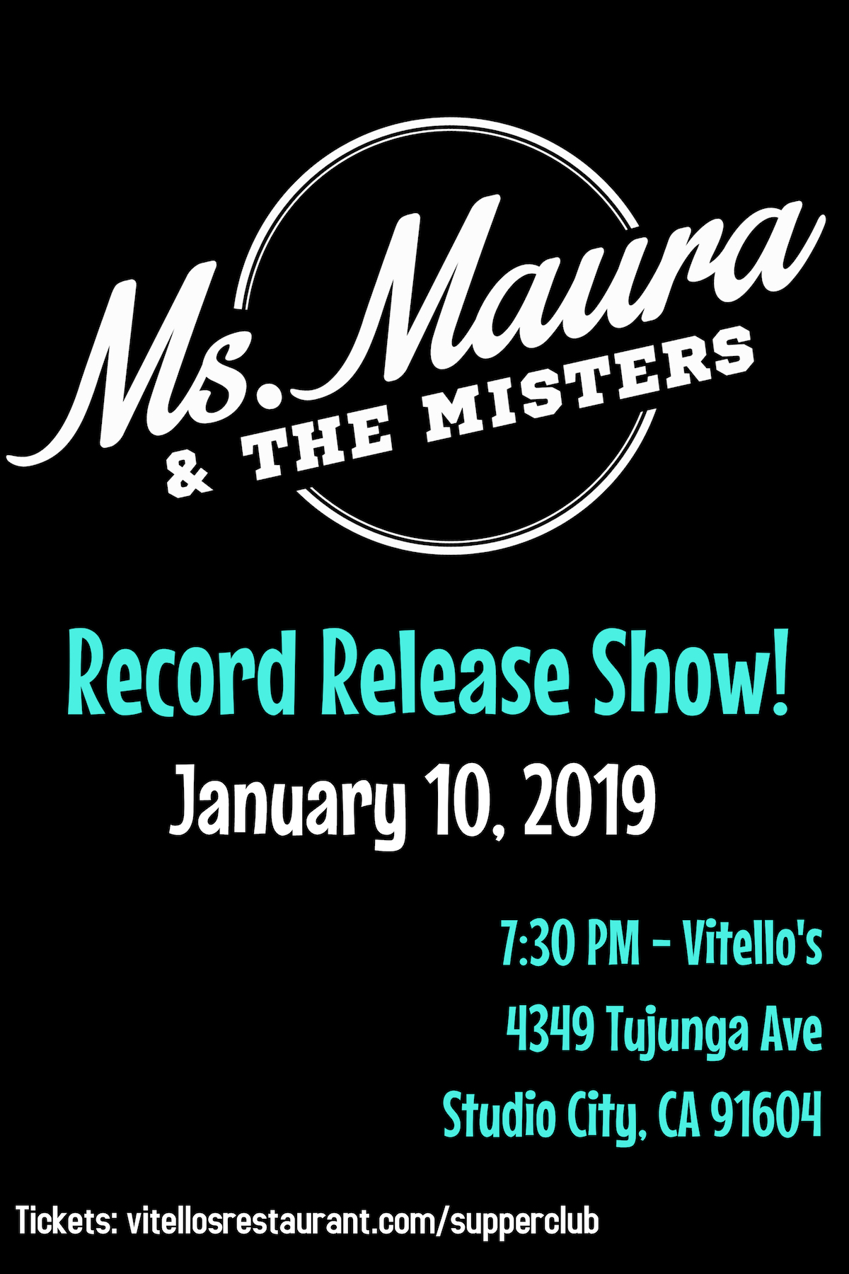 Vitellos, Ms. Maura, Ms. Maura & The Misters, Record Release, EP Release