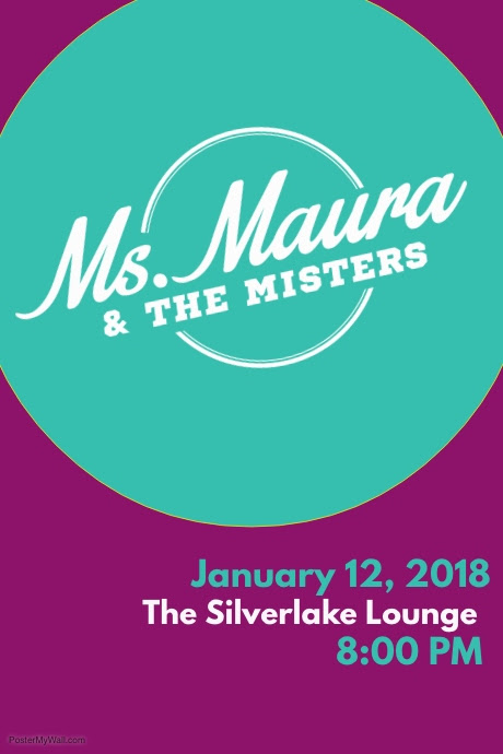 Ms. Maura & The Misters, Ms Maura, Silverlake Lounge, Los Angeles, Indie Rock, Live Music, Events