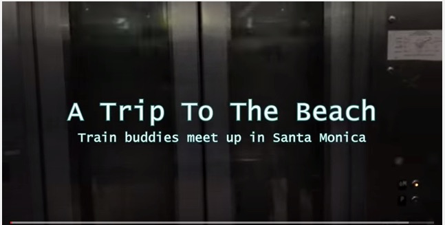 Maura MB, Ms. Maura, Maura Murphy-Barrosse, Metro Expo Line, Train, Santa Monica, Train Buddies