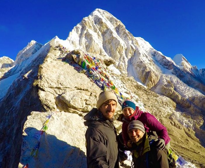 ITrekNepal trekkers near Mt. Everest  - October 2015