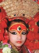 Living Goddess Kumari in Indra Jatra