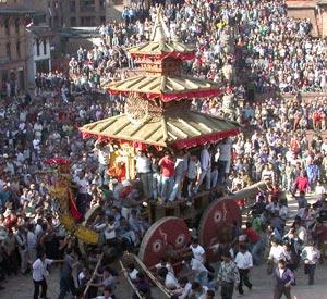 Bisket Jatra in Bhaktapur