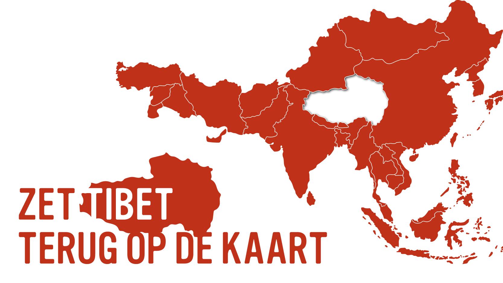 Afbeelding 'Zet Tibet terug op de kaart' - Linkt naar webpagina