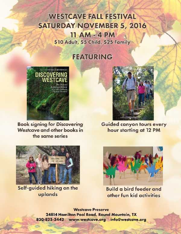 Westcave Book Release & Fall Fest