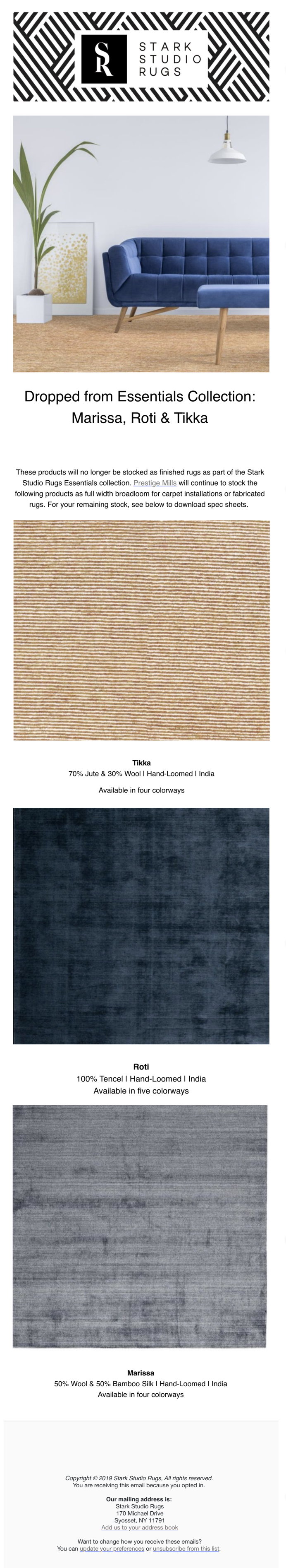 Stark Studio Rugs Stark Studio Rugs | Essentials Collection Update: Marissa, Roti & Tikka