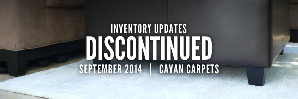 Inventory Updates for Sept 2014: Discontinued by Cavan