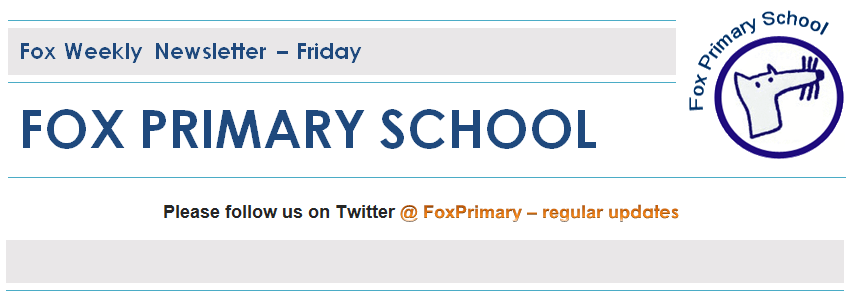 Fox Primary School Newsletter Header Image