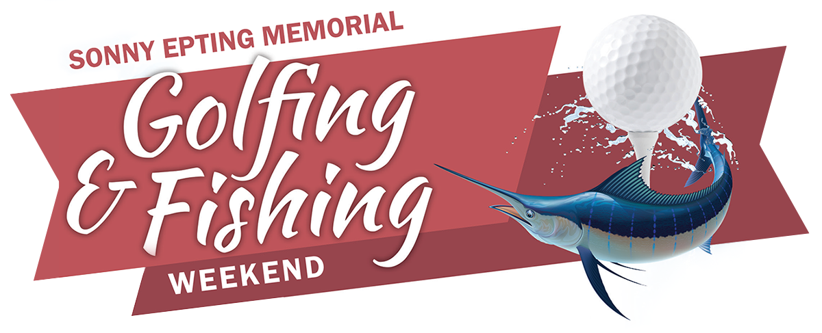Sonny Epting Memorial Golfing and Fishing Weekend with image of golf ball and marlin