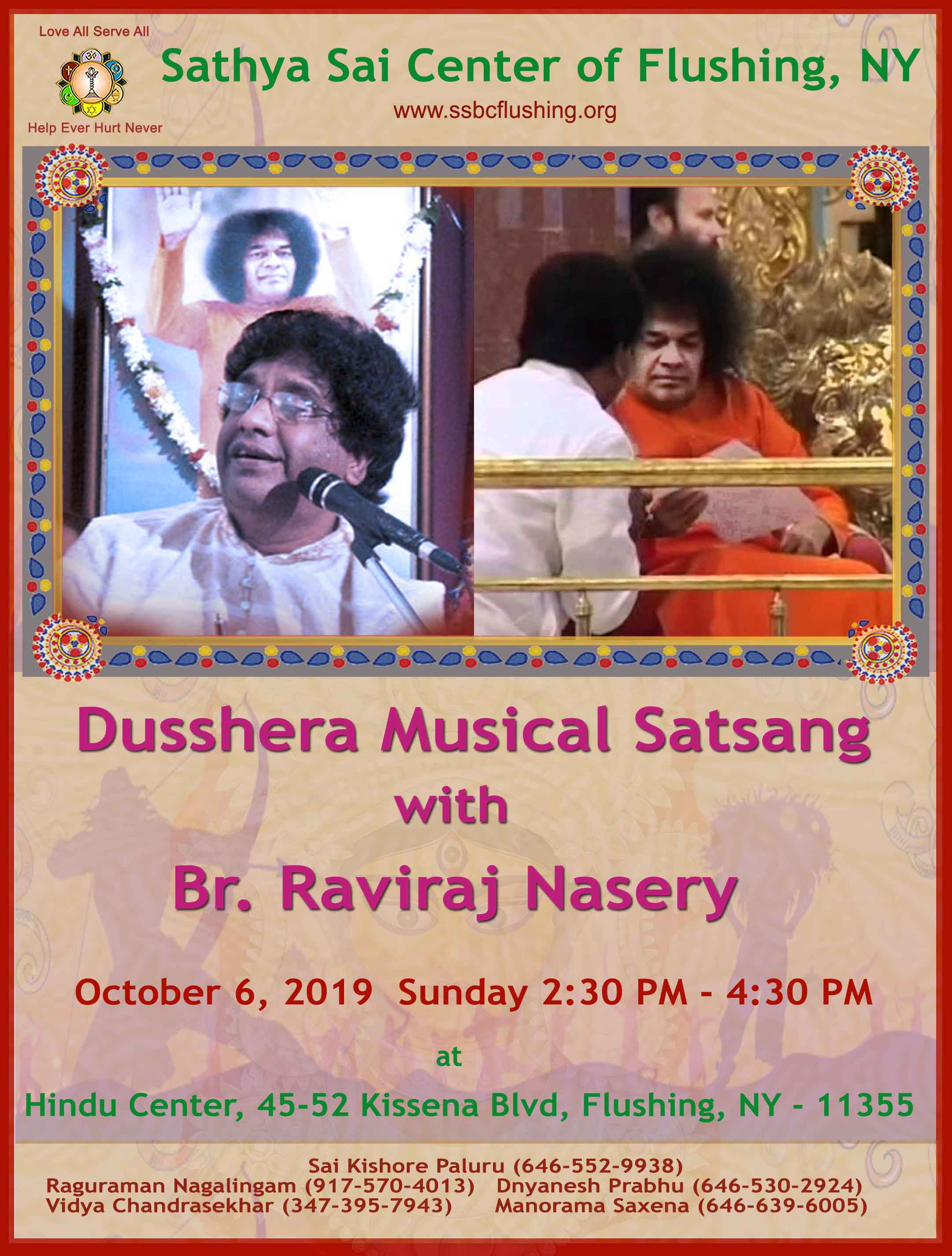 Saturday October 5th and Sunday October 6th 2019 Weekend Activities