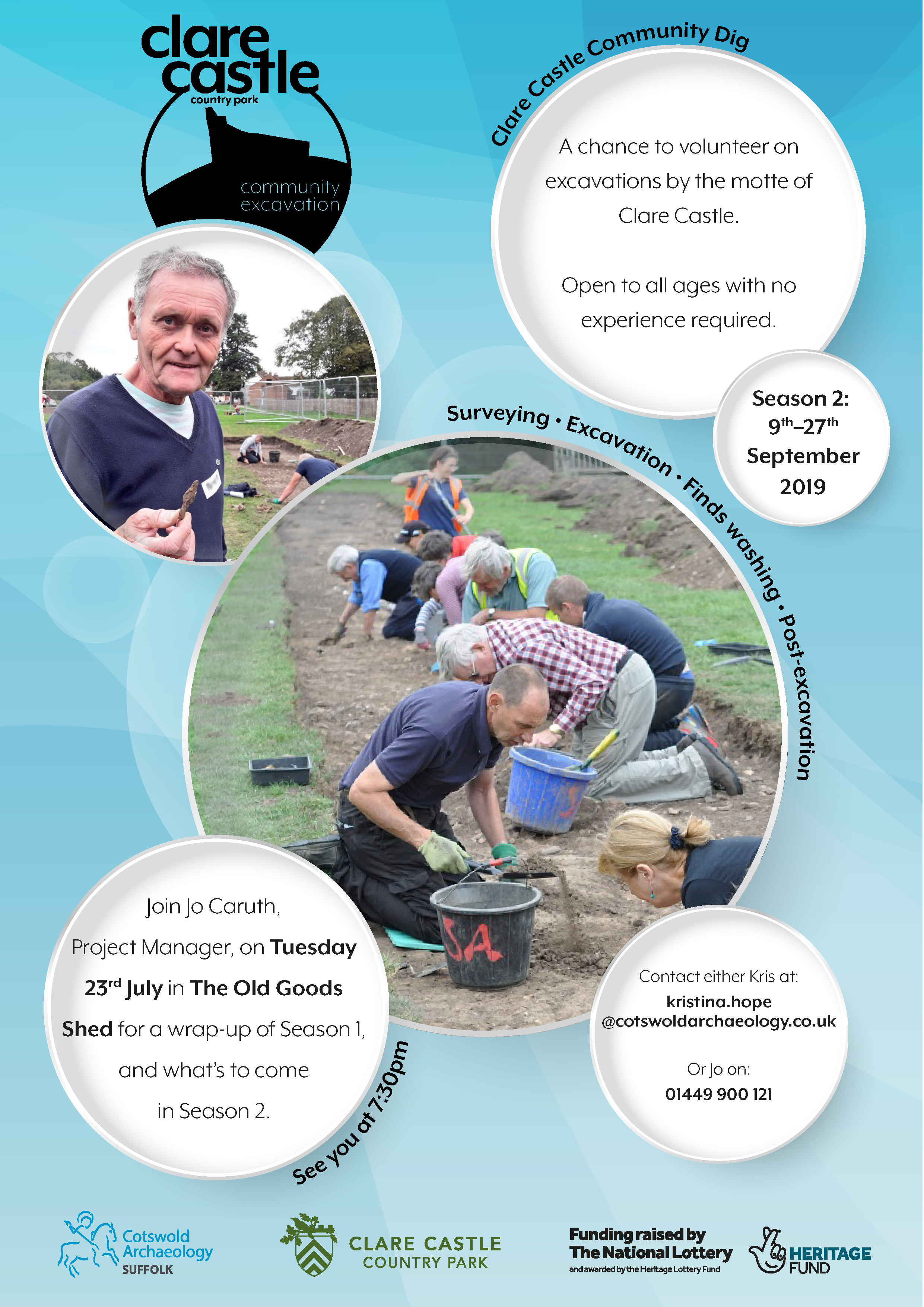 Poster for Clare Castle Excavations