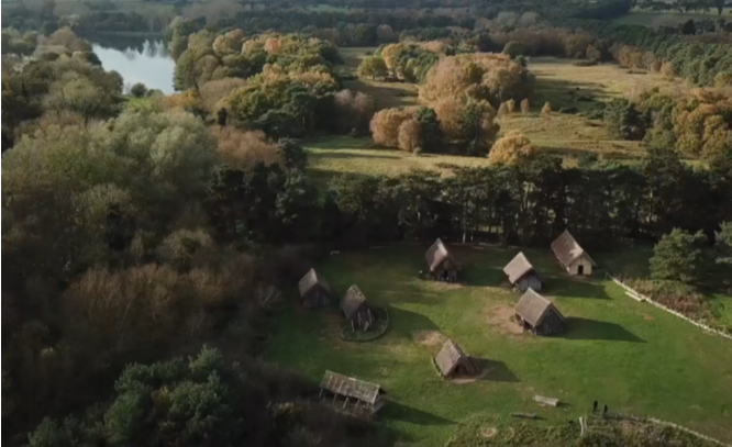 aerial view of West Stow anglo-saxon village