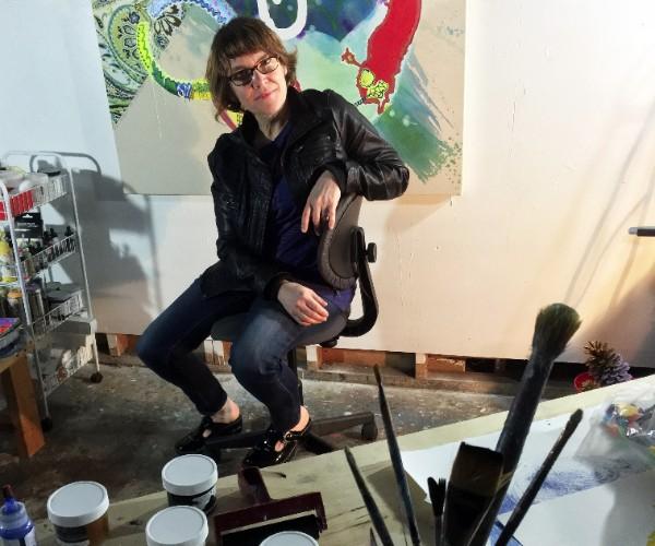 Vivian Liddell in studio (photo by Jeanne Ann Davidson)