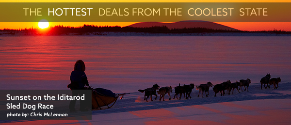 Visit TravelAlaska.com for the Hottest Deals from the Coolest State